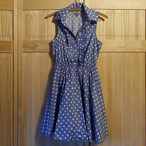Bailey Blue Sleeveless Collared Dress